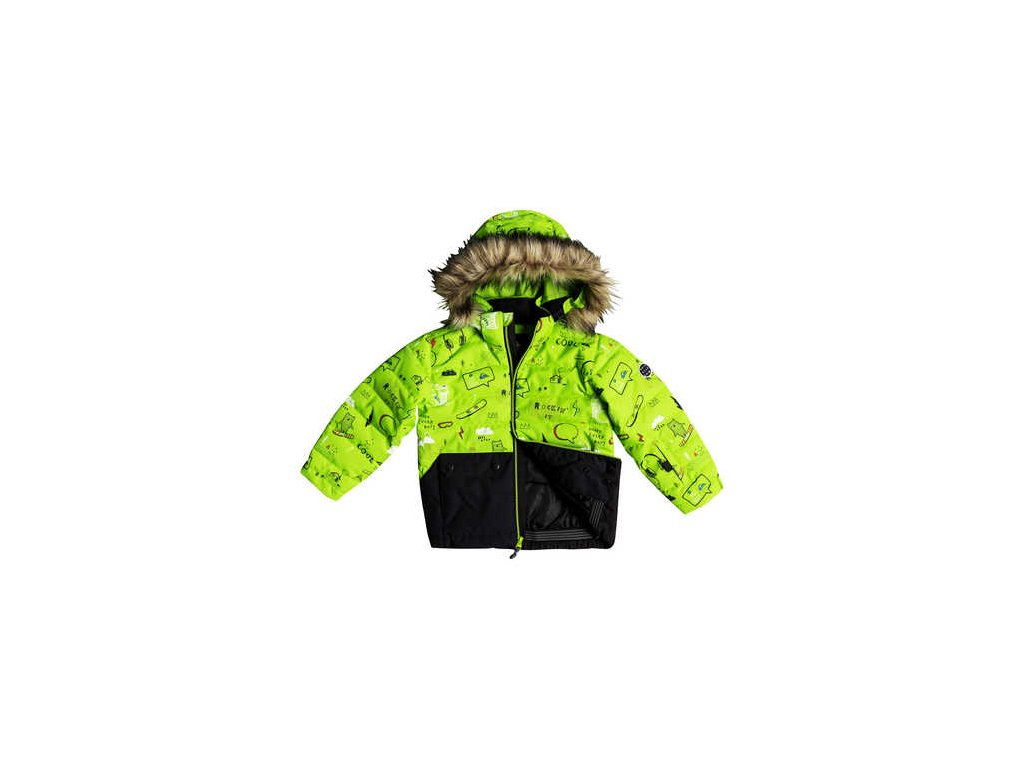 Quiksilver - bunda Z EDGY KIDS JK lime green
