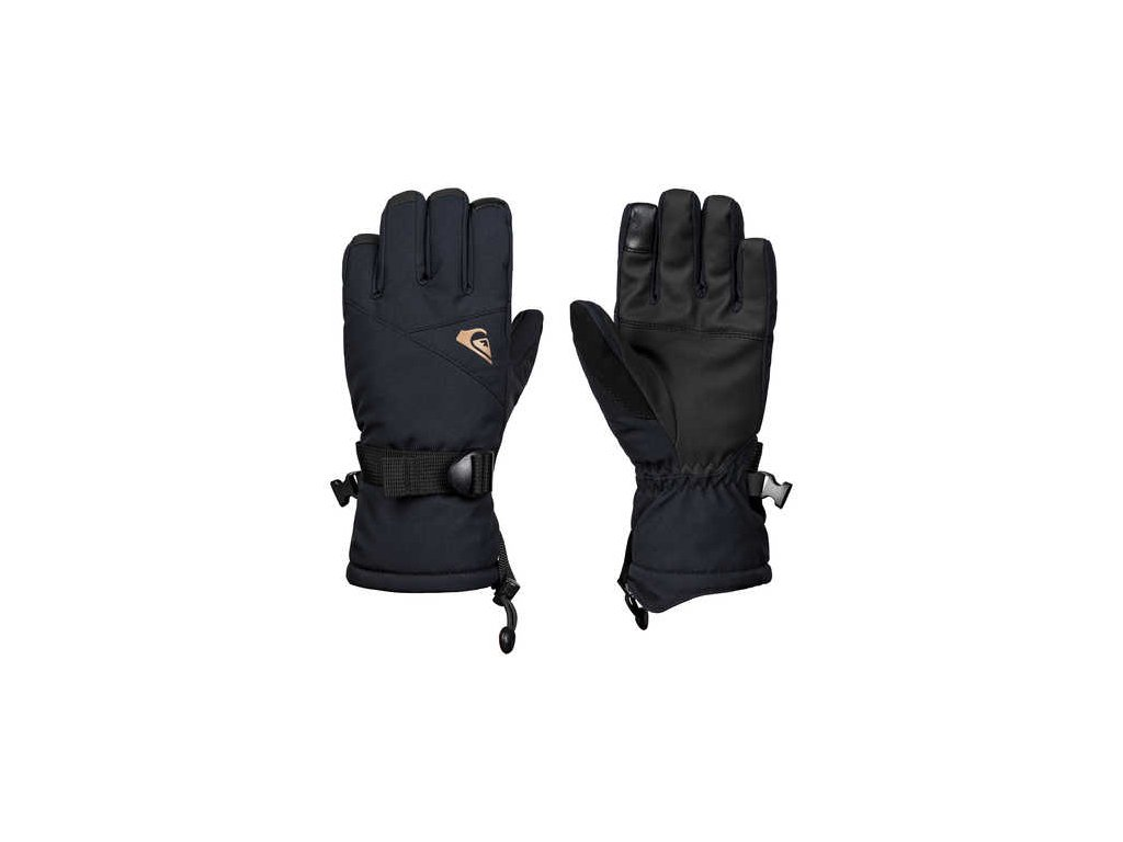 Quiksilver - rukavice L MISSION YOUTH GLOVE anthracite
