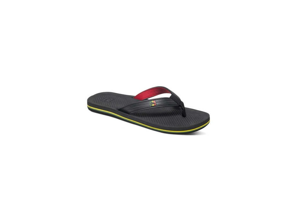 QUIKSILVER - obuv SW HALEIWA DELUXE  black-red-green