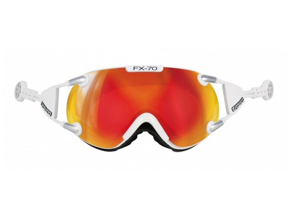 CASCO - okuliare L FX70 CARBONIC white/orange