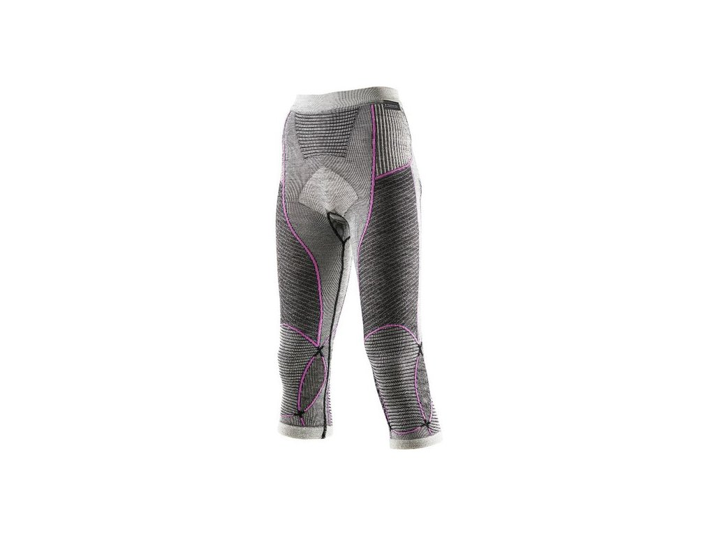 X-Bionic - nohavice T Pants Apani Merino Medium Lds grey/pink