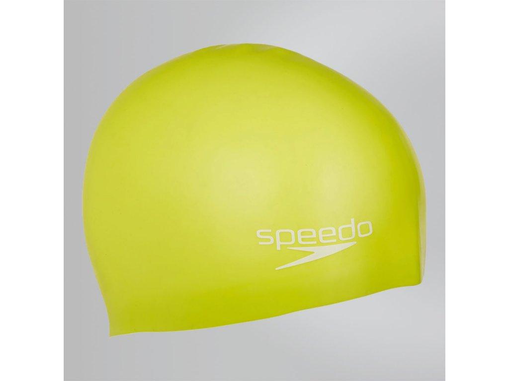 SPEEDO - plavecká čiapka PLAIN MOULDED SILICONE JR yellow
