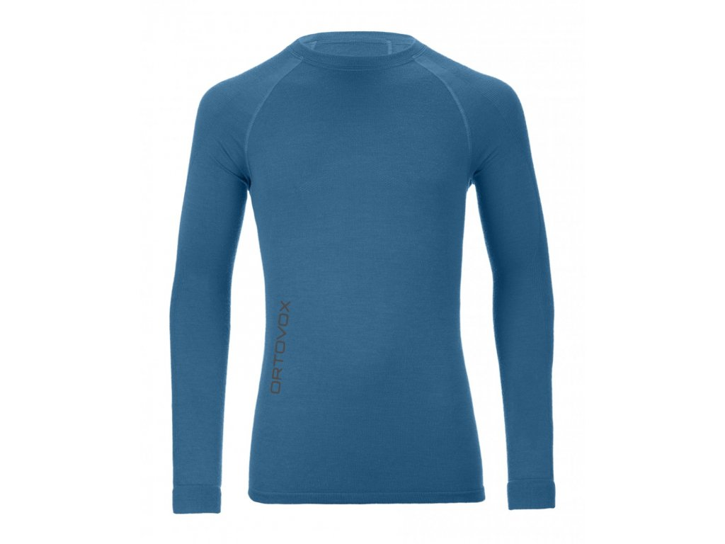 ORTOVOX - tričko Merino Competition Long Sleeve blue sea