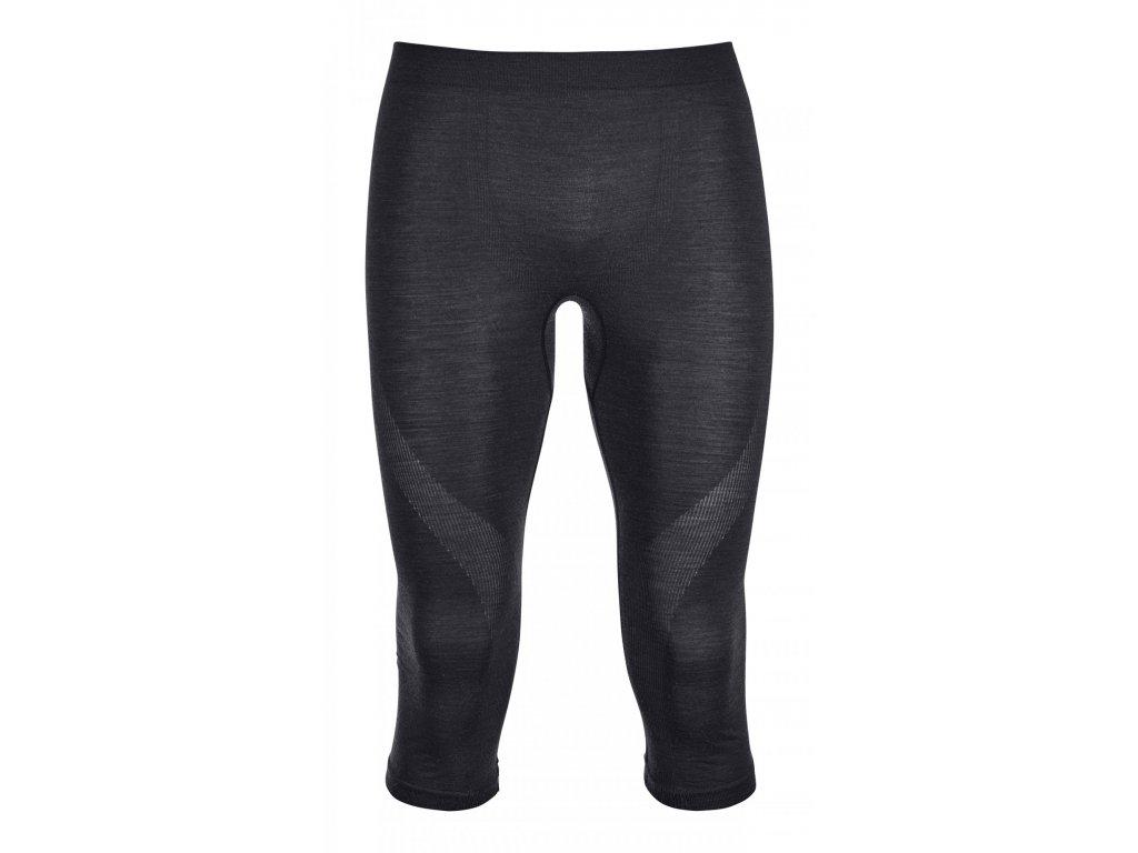 ORTOVOX - nohavice  T 3/4  Merino Competition Short Pants black raven