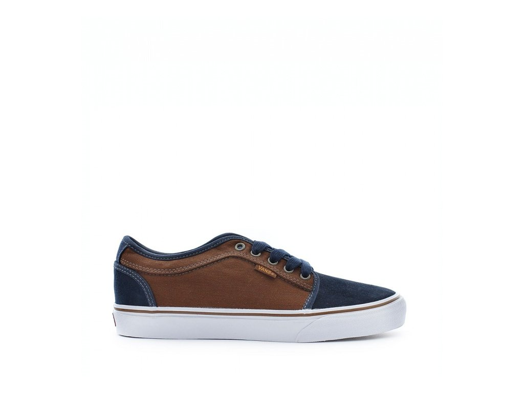 Vans  obuv  CHUKKA LOW HERRINGBONE navy/tobacco