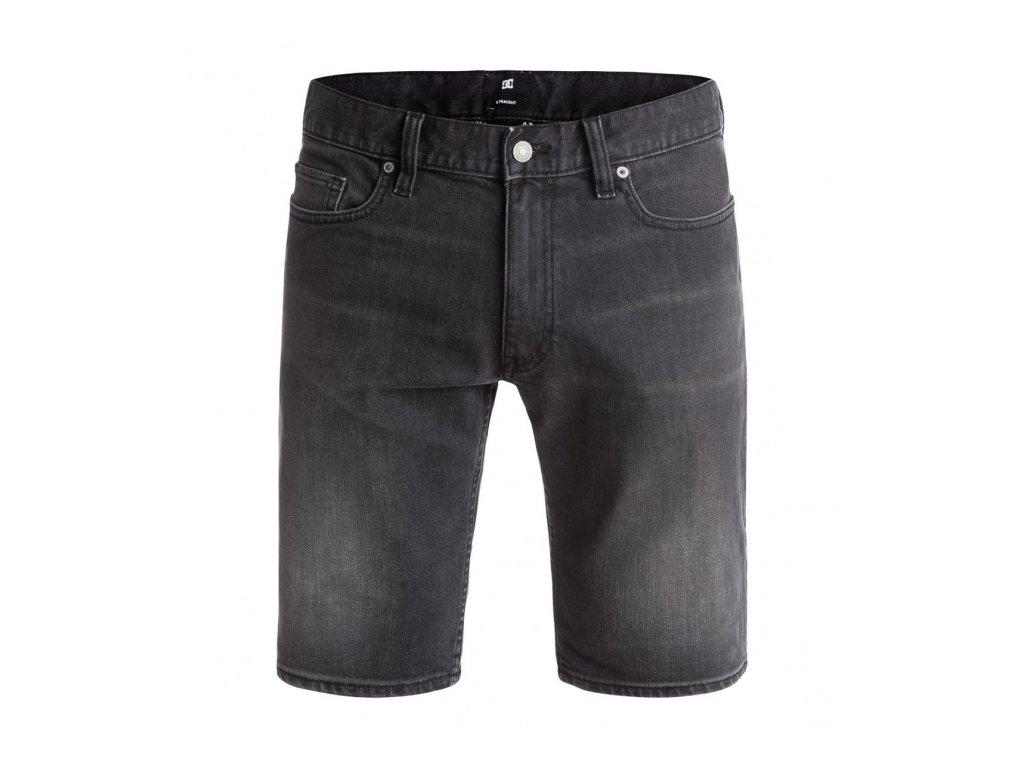 DC - šortky WASHED STRAIGHT medium grey