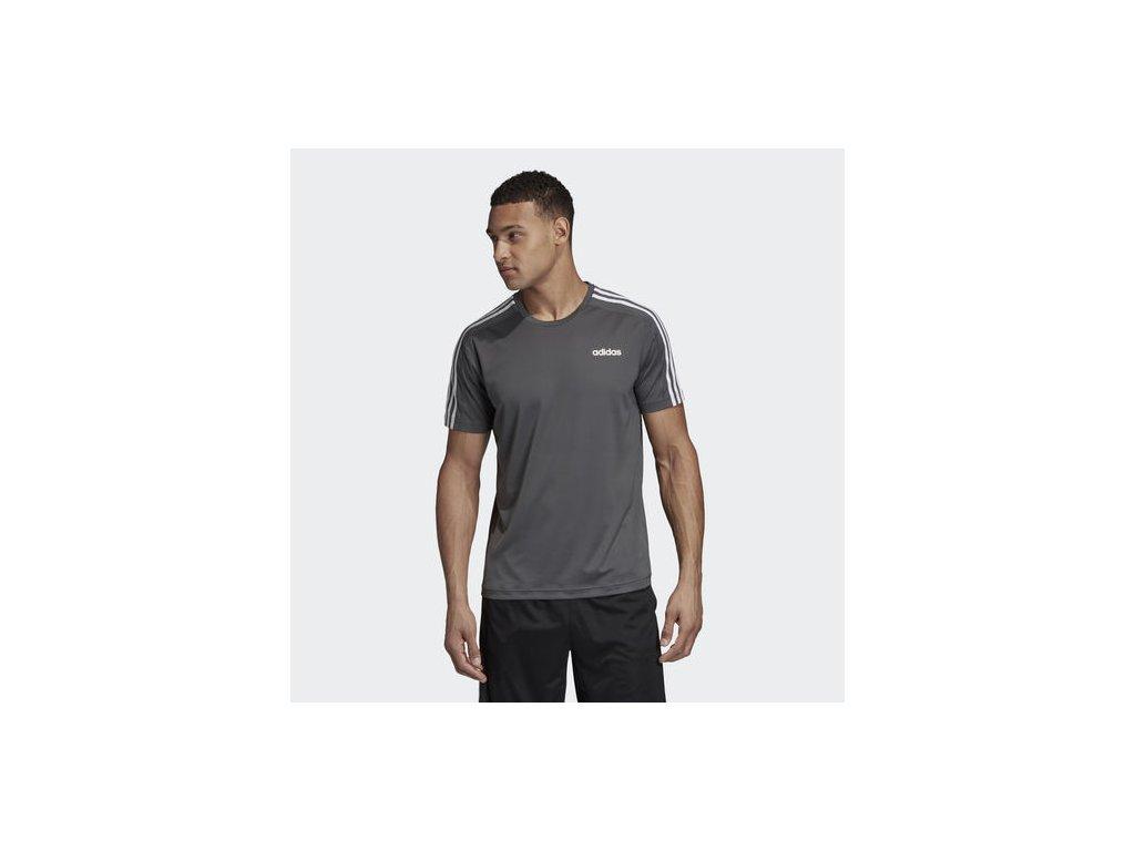 ADIDAS - tričko KR D2M Tee 3S grey