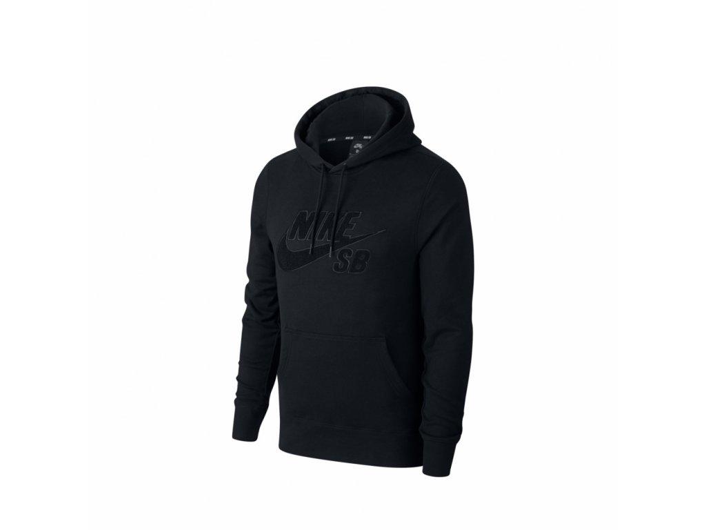 nike sb icon logo hoodie black chenille at3414 010 1[1]