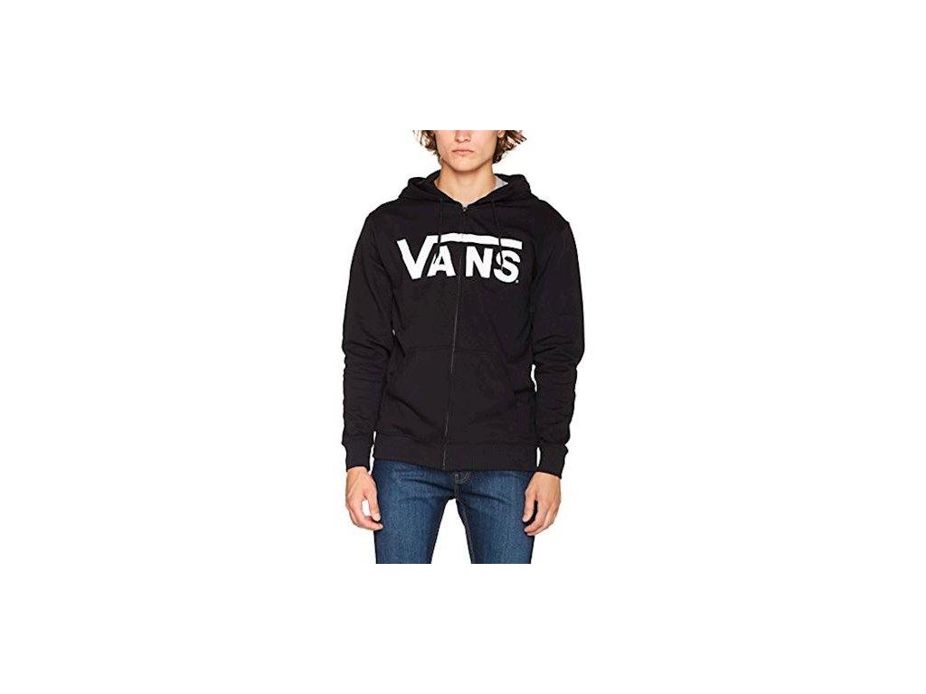 VANS - mikina VANS CLASSIC ZIP black/white