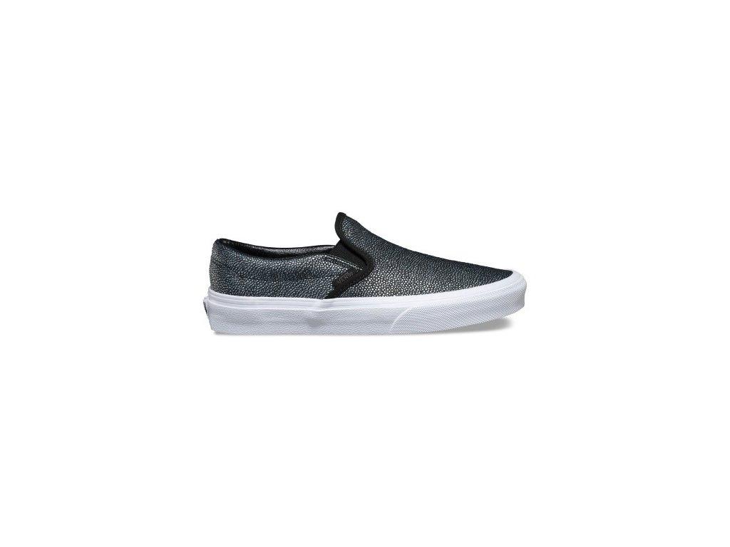 VANS - obuv STR U Classic Slip-On BLACK