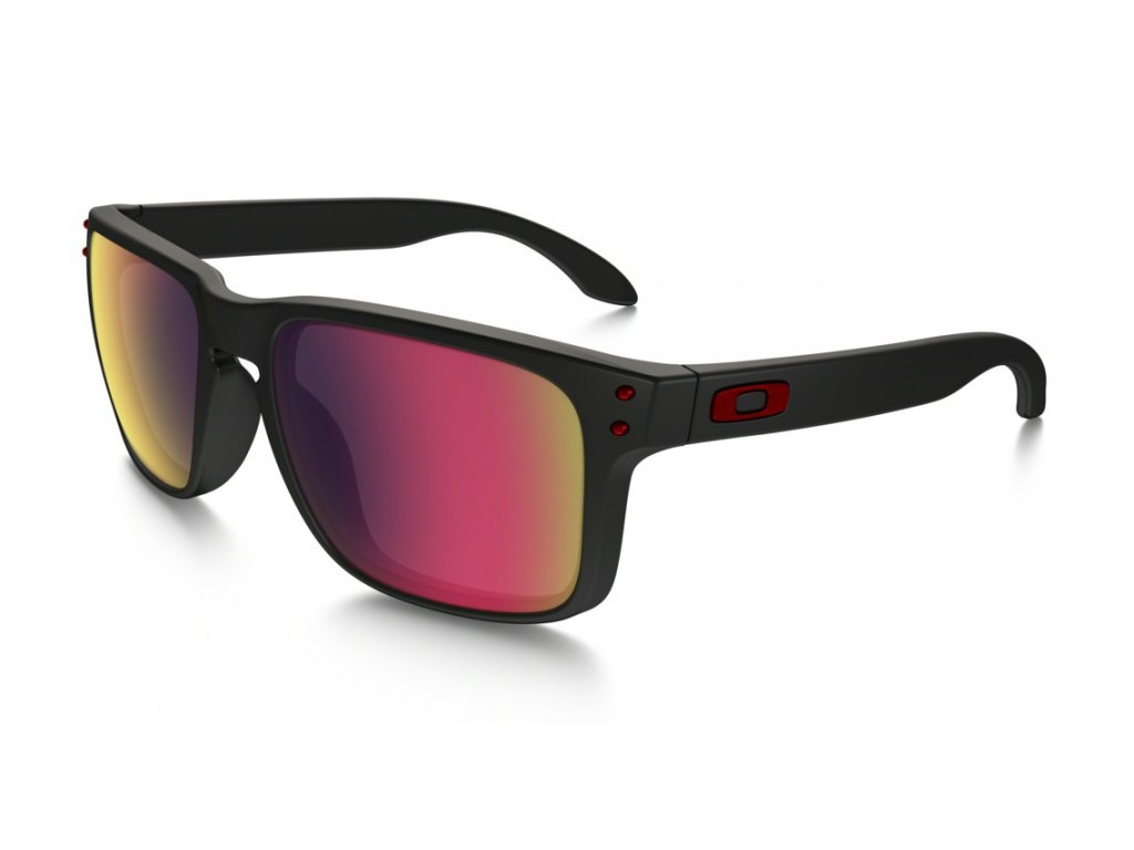 Oakley okuliare F HOLBROOK OO 9102 36 Matte Black/Positive Red Iridium