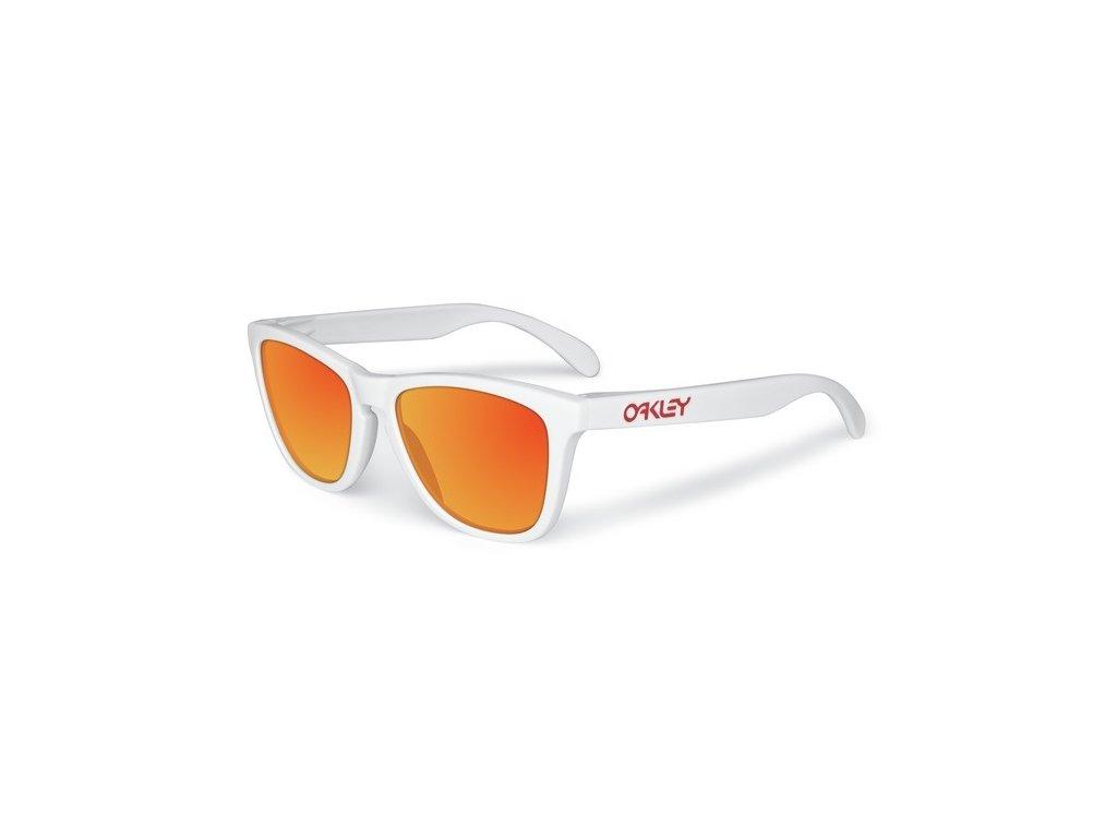 Oakley - okuliare F FROGSKINS Standard HDO 24-307 Polished White/ Ruby Iridium