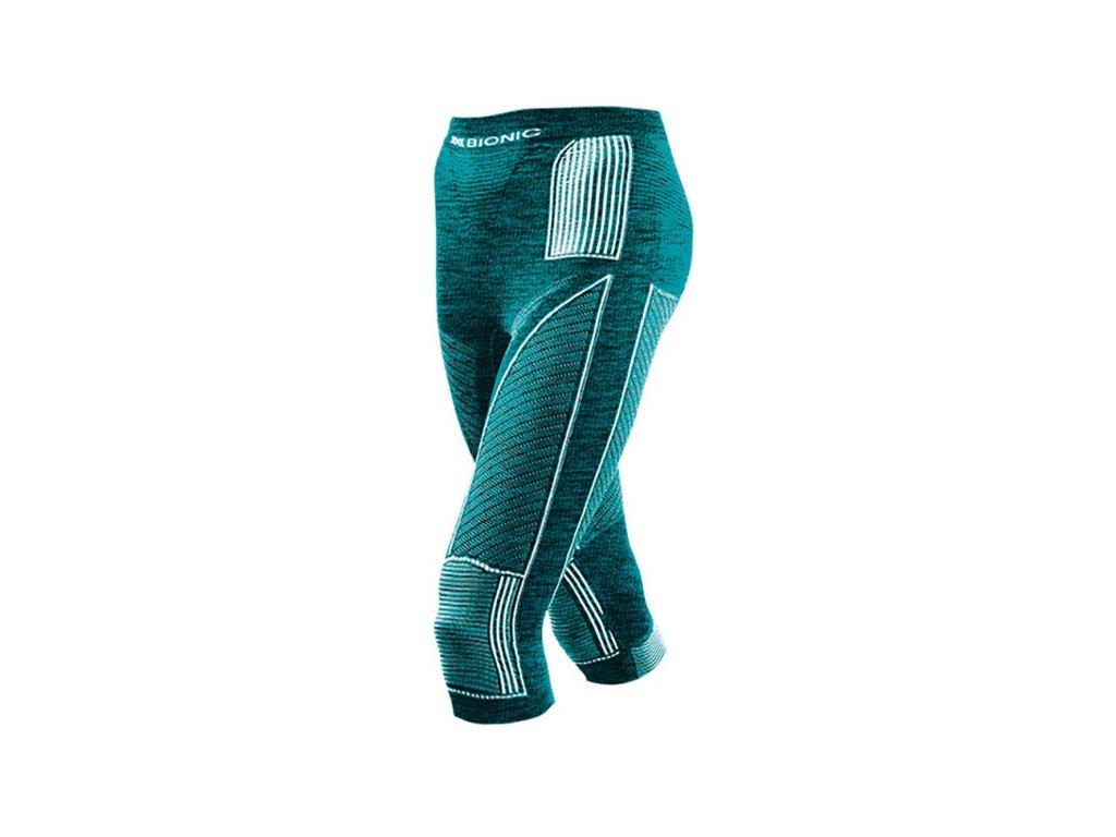 X-Bionic - nohavavice T LADY Energy Accumulator EVO Melange Pants lake blue