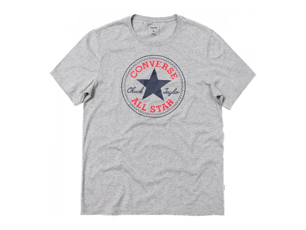 Converse tričko KR CORE CHUCK PATCH TEE grey