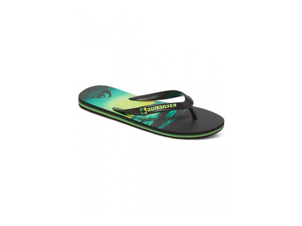 QUIKSILVER - obuv SW MOLOKAI HOLD DOWN BLACK/GREEN/GREEN