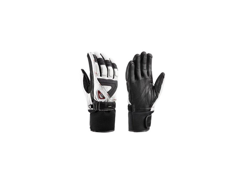 rukavice L Griffin S biela/šedá/čierna