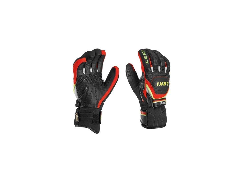 rukavice  L Worldcup Race Coach Flex S GTX * Leki biela/šedá/čierna
