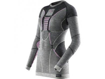X-Bionic - tričko T Apani Merino Fastflow Shirt grey/pink