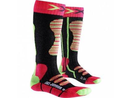 X-Bionic - ponožky T X-SOCKS SKI JUNIOR fuchsia/yellow