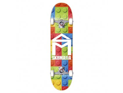 "SK8MAFIA - skateboard House Logo Lego 7.87""x31.75"" color"