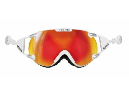 Casco okuliare L FX70 CARBONIC white/orange