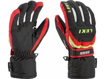leki rukavice glove worldcup s junior black red white yellow default[1]