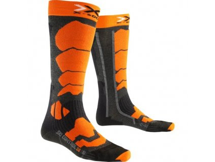 X-Bionic - ponožky T X-SOCKS SKI CONTROL anthracite/orange