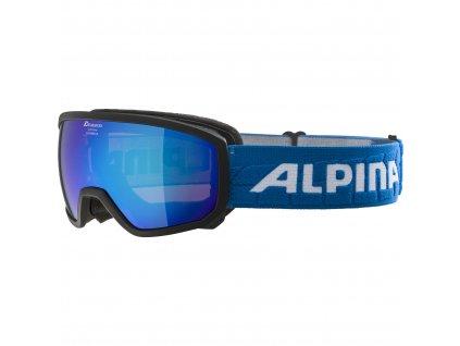 ALPINA - okuliare L SCARABEO JR MM 18/19 black/ blue sphere
