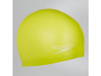 SPEEDO - plavecká čiapka PLAIN MOULDED SILICONE JR yellow