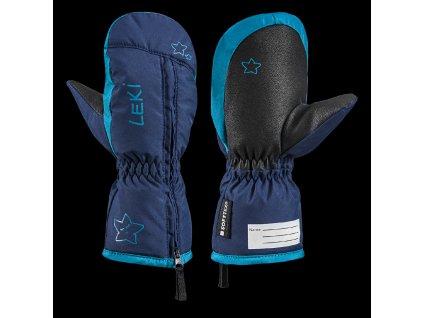 LEKI - rukavice L LITTLE SNOW MITT navy/sky
