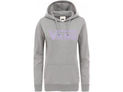 vans vn0a3umpgrh1 wm flying v classic hoodie grey heather 0