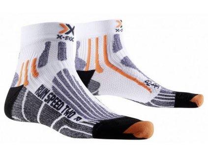 X-bionic - ponožky X-SOCKS RUN SPEED TWO white/black