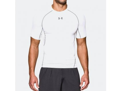 UNDER ARMOUR - tričko KR HG ARMOUR SS white