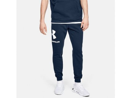 UNDER ARMOUR - tepláky RIVAL FLEECE LOGO JOGGER black