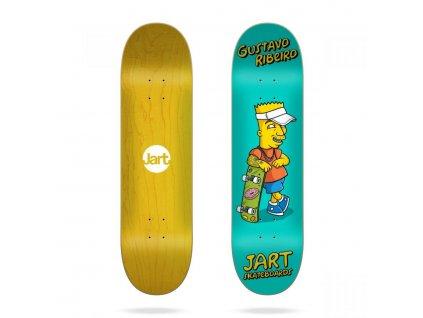 jart skateboards cut off gustavo ribeiro 8.0 skateboard deck[1]
