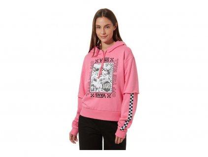 VANS - mikina LADY VANS STING HOODIE pink