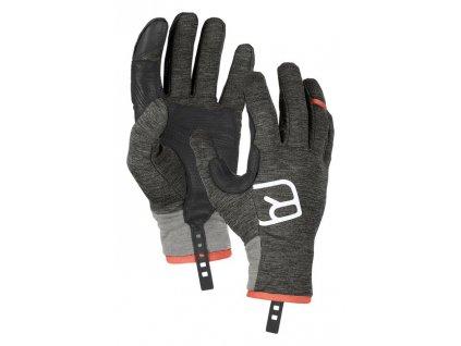 rukavice ortovox fleece light glove dark grey blend 31765[1]