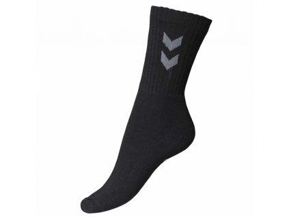 ponozky hummel basic 3 pack sock black dvojbalenie[1]