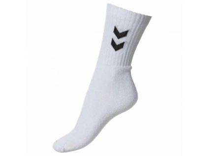 ponozky hummel basic 3 pack sock white dvojbalenie[1]