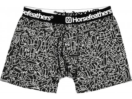 HORSEFEATHERS - boxerky SIDNEY BOXER SHORTS doodle