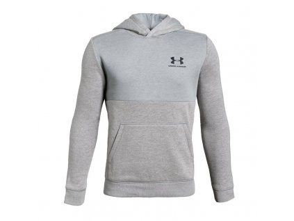 UNDER ARMOUR - mikina EU Cotton Fleece Hoody light grey