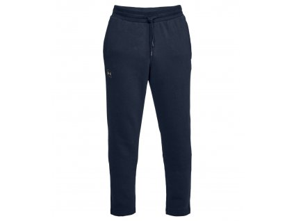 UNDER ARMOUR - tepláky RIVAL FLEECE JOGGER navy