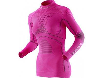 X-Bionic - tričko T LADY ACC EVO UW TURTLE NECK pink
