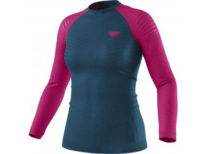 Dynafit tričko Tour Light Merino W LS Tee flamingo
