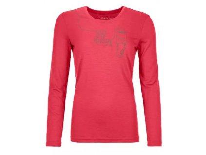 Ortovox tričko 185 Merino F2 LS W hot coral