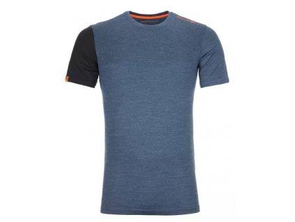 Ortovox tričko 185 Rock'N'Wool Short Sleeve M night blue blend