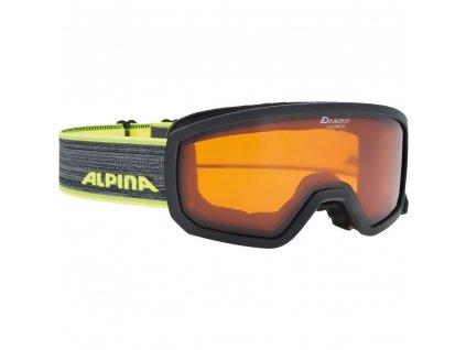 62200224A alpina scarabeo jr skibrille kids black neon[1]
