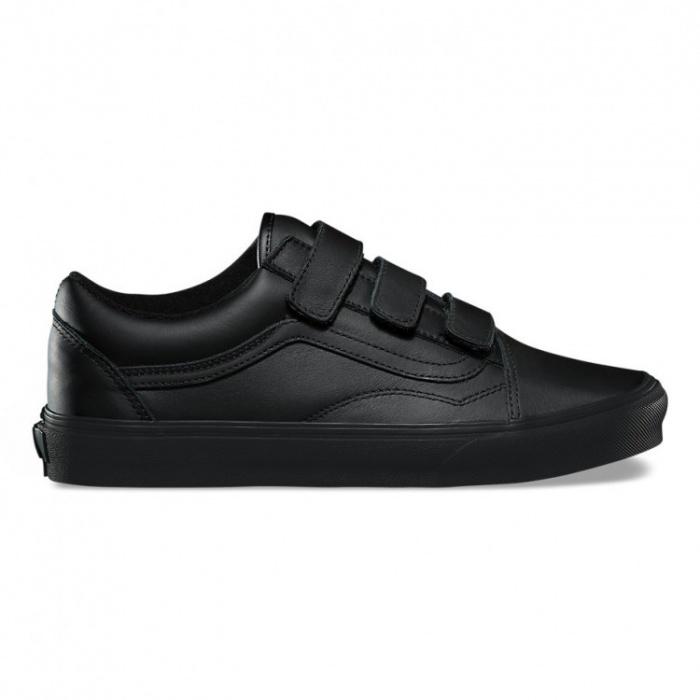 Vans obuv OLD SKOOL V (MONO LEATHER) BLACK Velikost: 8.5