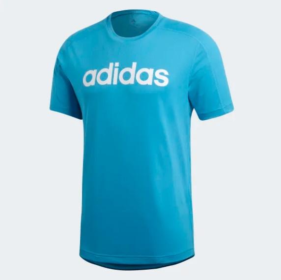 Adidas tričko KR D2M COOL Logo T cyan Velikost: XL