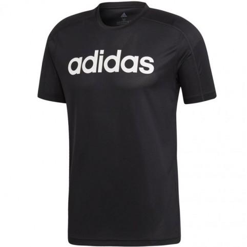 Adidas tričko KR D2M COOL Logo T black Velikost: M